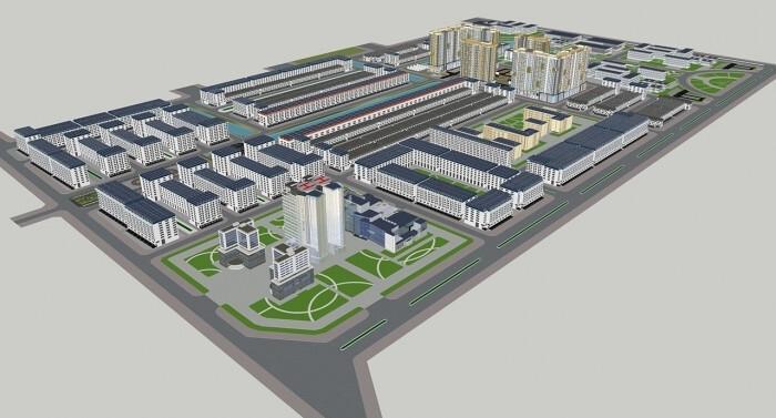 Phối cảnh Dự án Khu đô thị mới và Khu công nghệ thông tin tập trung Thành phố Cần Thơ.