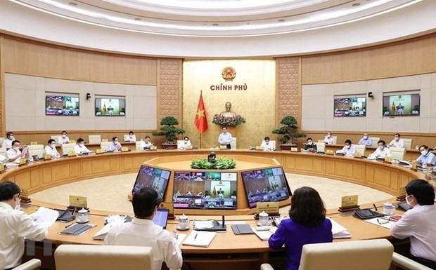Nghị quyết phiên họp Chính phủ trực tuyến với các địa phương về KTXH