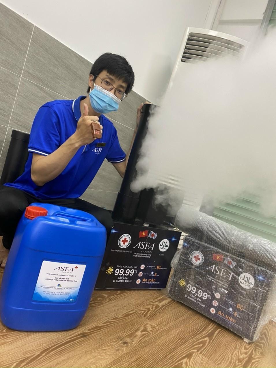 Máy khử khuẩn Asfa giải pháp an toàn khử mùi diệt khuẩn hiệu quả