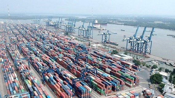 """""""Nóng"""" giải tỏa hàng hóa ùn tắc ở Cảng Cát Lái"""