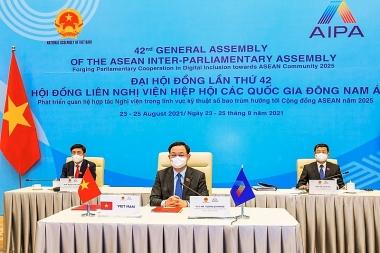 Chủ tịch Quốc hội Vương Đình Huệ họp phiên bế mạc AIPA-42