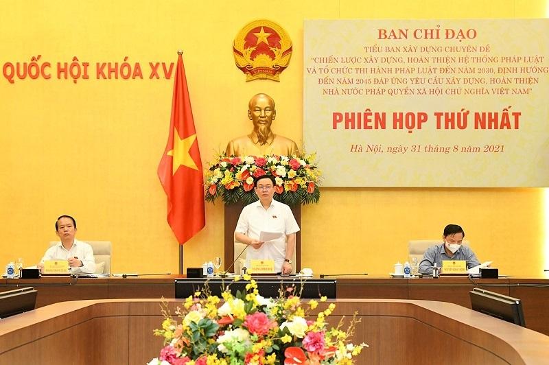 Chủ tịch Quốc hội Vương Đình Huệ: Hệ thống pháp luật phải có tính dự báo