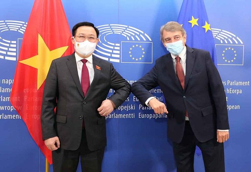Chủ tịch Quốc hội Vương Đình Huệ mong Nghị viện châu Âu hỗ trợ vaccine