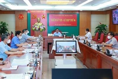 Ủy ban Kiểm tra Trung ương kết luận nhiều nội dung quan trọng