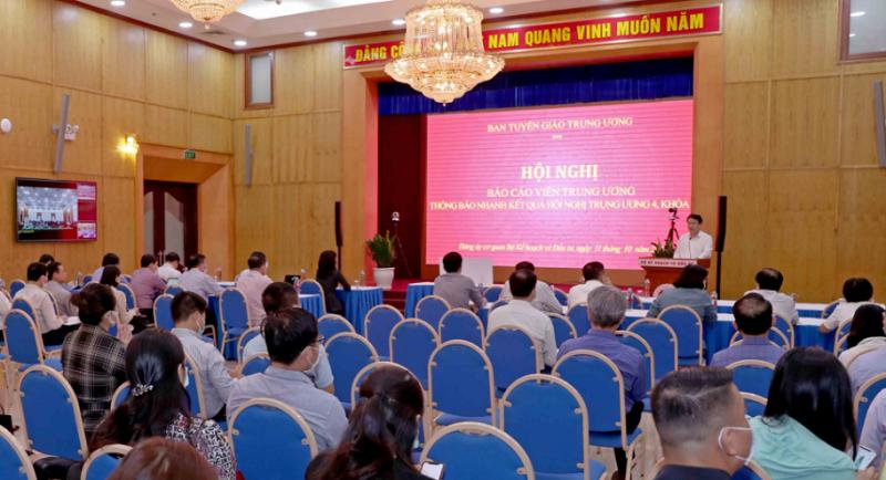 Đảng ủy cơ quan Bộ Kế hoạch và Đầu tư quán triệt kết quả Hội nghị Trung ương 4