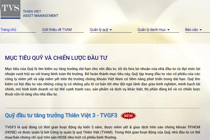 Quỹ Đầu tư Tăng trưởng Thiên Việt 3 niêm yết trên HOSE