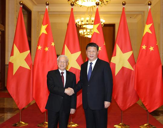 Tổng Bí thư Nguyễn Phú Trọng hội đàm với Chủ tịch Tập Cận Bình