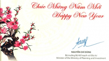 Bộ trưởng Nguyễn Chí Dũng chúc mừng năm mới 2018 Tạp chí KT&DB