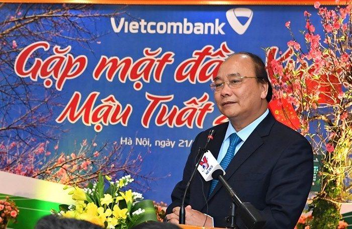 Thủ tướng: Tầm nhìn của Vietcombank là cạnh tranh với khu vực và quốc tế