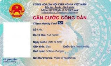 Quy định về mẫu thẻ Căn cước công dân gắn chíp điện tử
