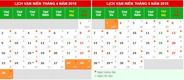 Kỳ nghỉ lễ 30/4 và 01/05 năm 2018 được nghỉ mấy ngày?