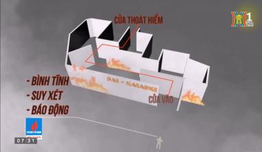 """""""An toàn phòng cháy, chữa cháy"""" hướng dẫn thoát hiểm khi có hỏa hoạn"""