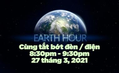 Tối 27/3/2021: Tắt đèn hưởng ứng Giờ Trái đất