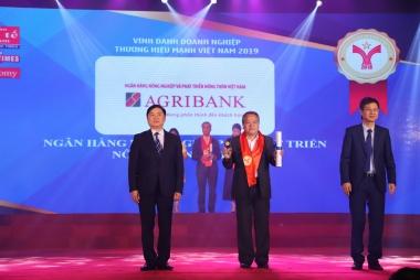 Agribank được vinh danh Thương hiệu Mạnh Việt Nam 2018