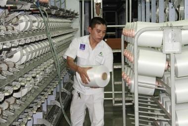 Nhà máy xơ sợi Đình Vũ đưa thêm 2 dây chuyền sản xuất sợi DTY vào vận hành