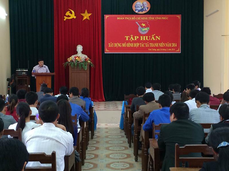 Năm 2015: tiếp tục nhân rộng mô hình thanh niên làm KTTT ở Vĩnh Phúc