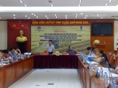 Ngành nông nghiệp và phát triển nông thôn ứng phó với biến đổi khí hậu