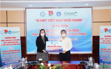 """Green+ đồng hành với Chương trình """"Tiếp sức tình nguyện viên tham gia phòng chống dịch Covid-19 tại TP. Hồ Chí Minh"""""""