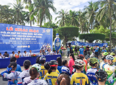 Khai mạc Giải đua Xe đạp nữ toàn quốc mở rộng tại TP. Nha Trang
