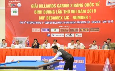 Nước tăng lực Number 1 đồng hành cùng Giải Billiards Carom 3 băng quốc tế Bình Dương