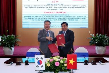 Việt Nam – Hàn Quốc ký kết Bản ghi nhớ hợp tác phát triển bền vững
