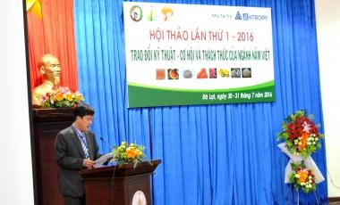 """Hội thảo: """"Trao đổi  kỹ thuật, cơ hội và thách thức của ngành nấm Việt"""" lần I"""