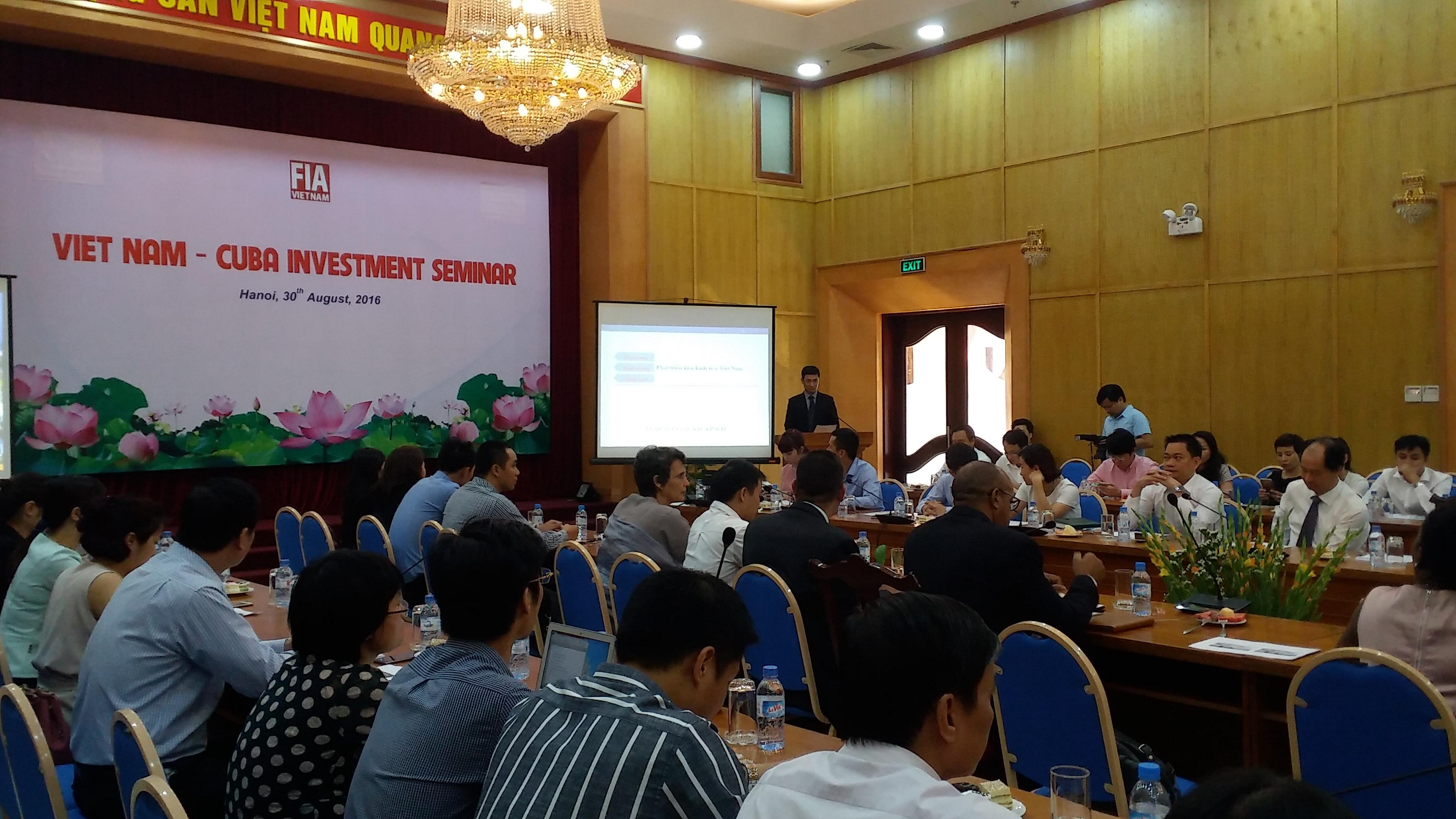 Tăng cường hợp tác đầu tư giữa Việt Nam – CuBa