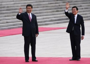 Chủ tịch nước Trương Tấn Sang hội đàm với Tổng Bí thư Tập Cận Bình