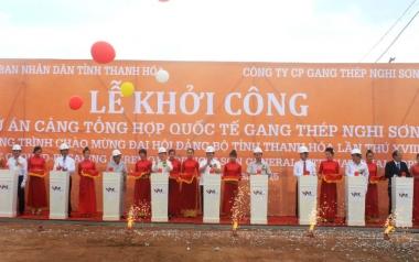Khởi công xây dựng cảng gang thép Nghi Sơn trị giá gần 6.000 tỷ đồng