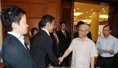 Tổng Bí thư Nguyễn Phú Trọng trả lời phỏng vấn báo chí Nhật Bản