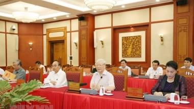 Đến 27/9/2020, Bộ Chính trị đã làm việc với tất cả 67 đảng bộ trực thuộc Trung ương