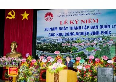 Ban quản lý các KCN Vĩnh Phúc: Hành trình 20 năm phát triển các KCN