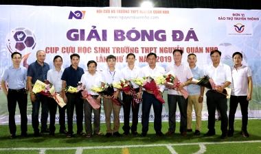 Khai mạc giải bóng đá Cup cựu học sinh trường THPT Nguyễn Quán Nho lần thứ 4 năm 2019 tại Hà Nội
