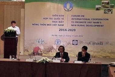 Các đối tác phát triển hỗ trợ Việt Nam xây dựng nông thôn mới giai đoạn 2016-2020