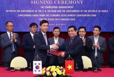 Hàn Quốc cho Việt Nam vay 1,5 tỷ USD giai đoạn 2016-2020
