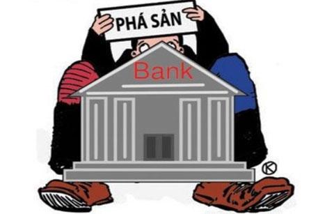 Ngân hàng yếu kém sẽ cho phép phá sản