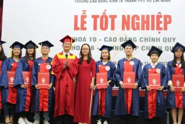 Trường Cao đẳng Kinh tế TP. Hồ Chí Minh tổ chức lễ tốt nghiệp và ngày hội việc làm cho sinh viên