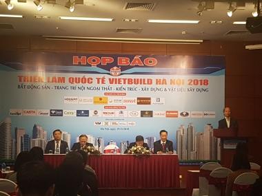 Vietbuild Hà Nội 2018 lần thứ ba thu hút sự tham gia của 22 quốc gia và vùng lãnh thổ