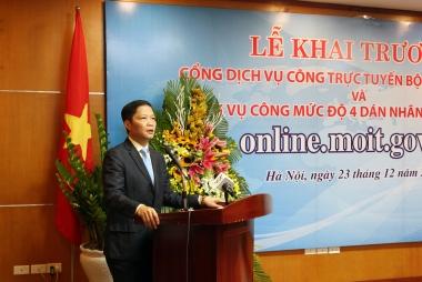 Khai trương Cổng Dịch vụ công trực tuyến Bộ Công thương