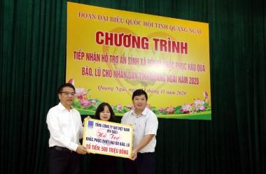 PV GAS tham gia Chương trình ủng hộ đồng bào tại Quảng Ngãi