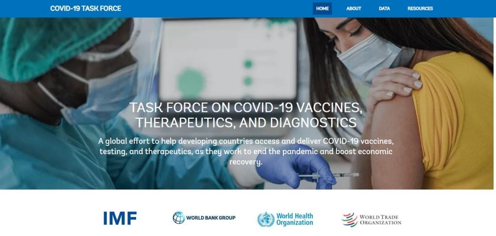 IMF, WB, WHO, WTO ra mắt trang web chung về vaccine