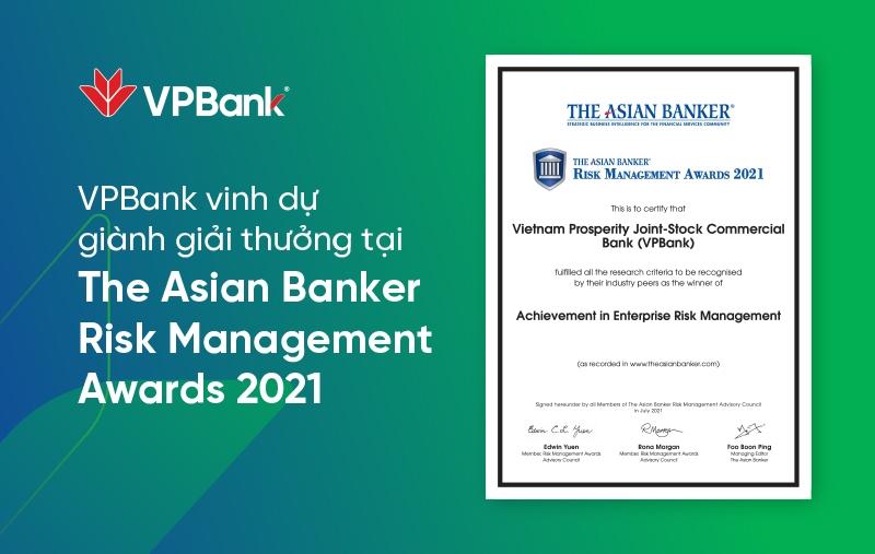 VPBank lần thứ 2 nhận giải thưởng quản trị rủi ro cấp châu lục