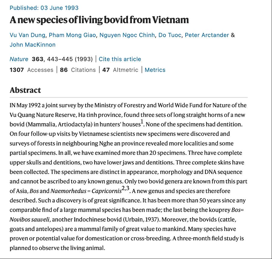 Góc Việt Nam trong lịch sử 150 năm Nature
