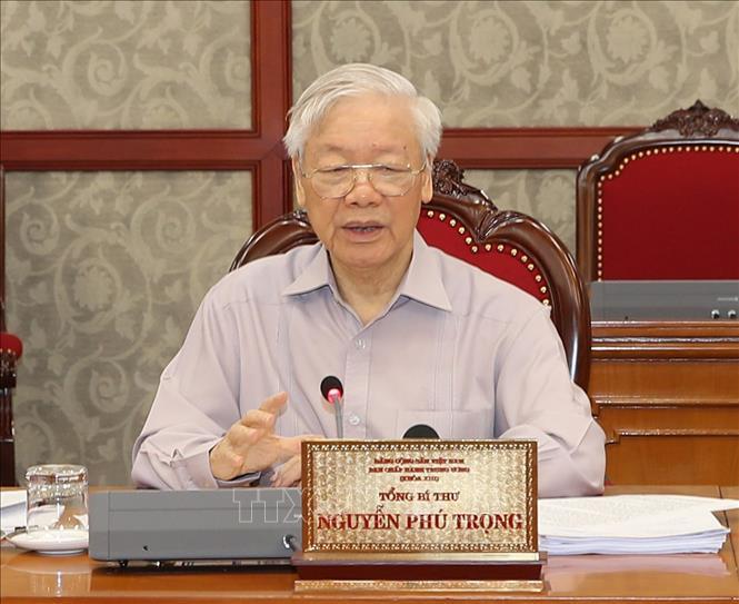 Tổng Bí thư Nguyễn Phú Trọng động viên Đảng bộ, chính quyền và nhân dân TPHCM