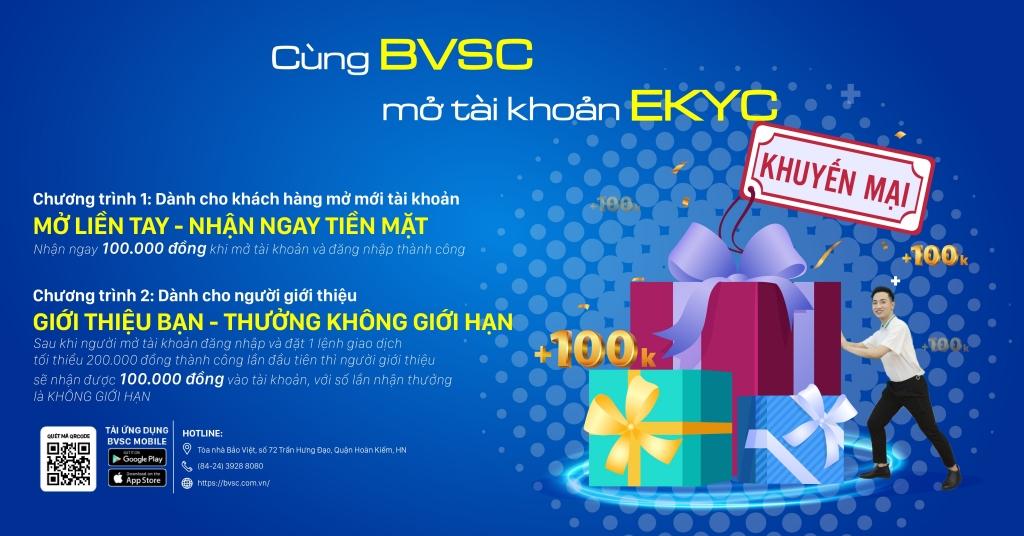 BVSC công bố dịch vụ mở tài khoản trực tuyến eKYC