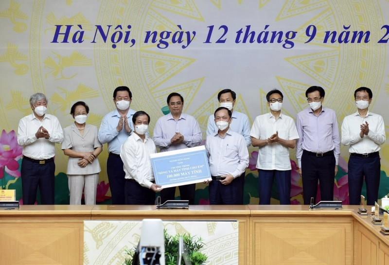 Ngành ngân hàng tặng 100.000 máy tính cho chương trình