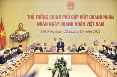 Thủ tướng Phạm Minh Chính gặp mặt doanh nhân nhân Ngày Doanh nhân Việt Nam
