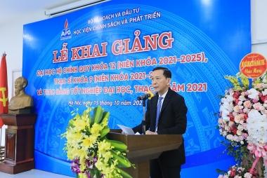 Học viện Chính sách và Phát triển khai giảng năm học mới 2021-2022