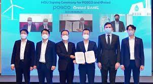 Tập đoàn năng lượng Orsted và POSCO hợp tác về điện gió và khí hydro tái tạo