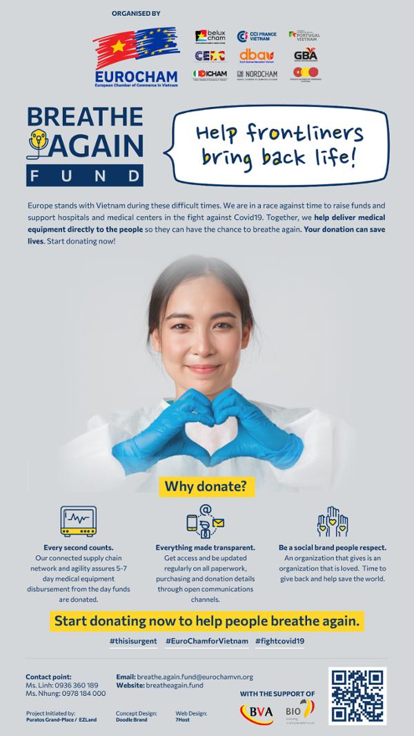 EuroCham phát động chiến dịch ủng hộ trang thiết bị y tế cho Việt Nam